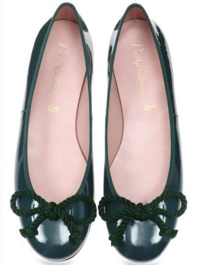 Rosario Grey|ירוק|נעלי בובה|נעלי בלרינה|נעליים שטוחות|נעליים נוחות|ballerinas