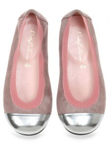 Silver Doll|כסף|ורוד|ניוד|ילדות| בלרינה|נעלי בלרינה לילדות|נעלי בלרינה