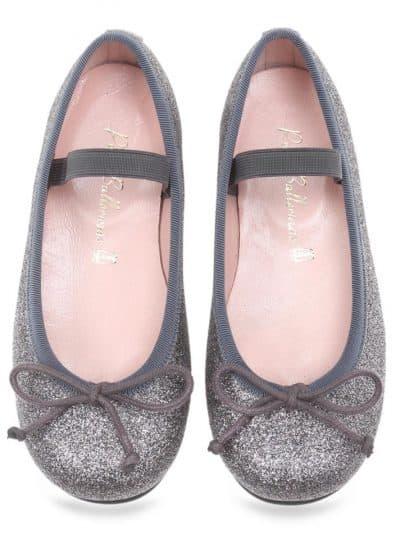Black Candy|אפור|ילדות| בלרינה|נעלי בלרינה לילדות|נעלי בלרינה