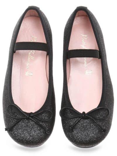 Silver Candy|שחור|ילדות| בלרינה|נעלי בלרינה לילדות|נעלי בלרינה