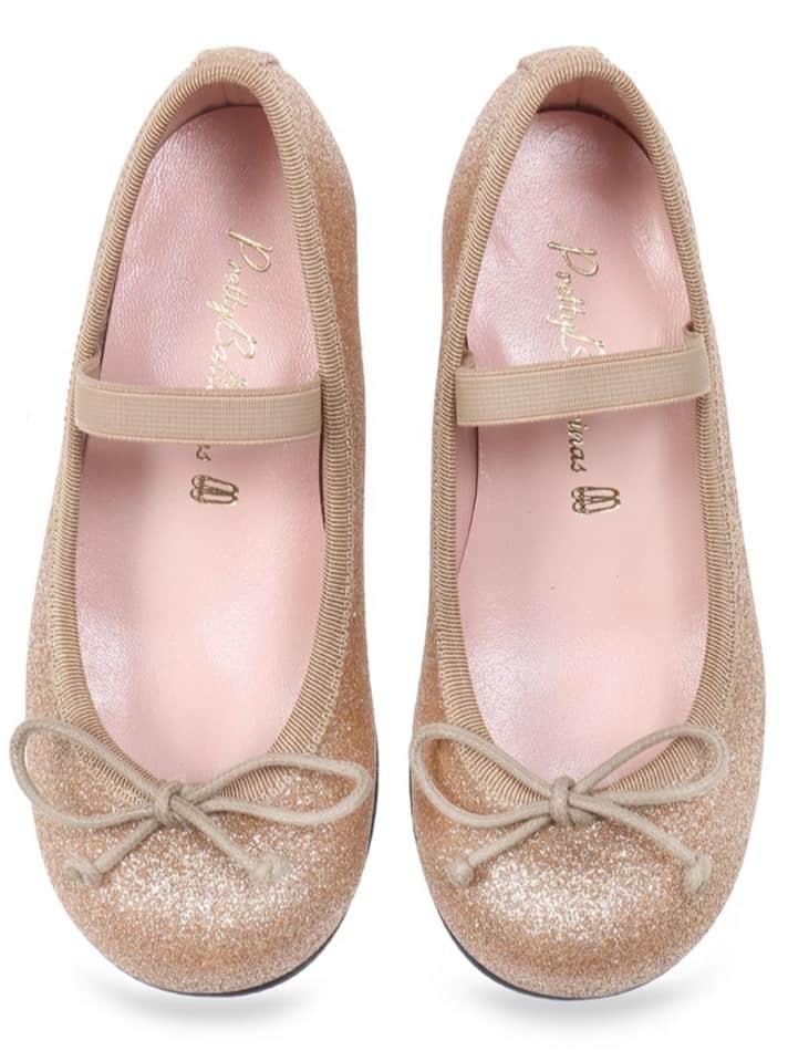 Perfect Princess|אפור|ילדות| בלרינה|נעלי בלרינה לילדות|נעלי בלרינה