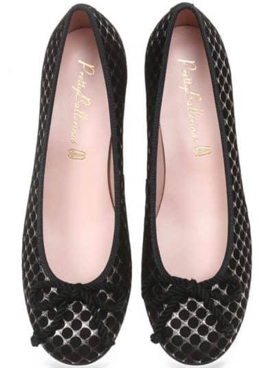 Silver Net|שחור|כסף|עקב|נעלי עקב|Heels