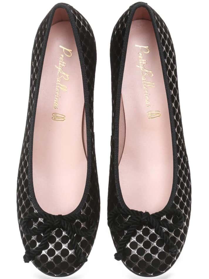 Silver Net שחור כסף עקב נעלי עקב Heels