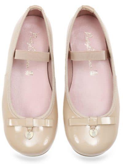 Beige Bunny|ניוד|ילדות| בלרינה|נעלי בלרינה לילדות|נעלי בלרינה