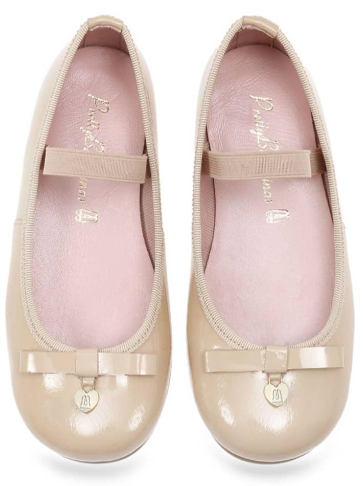 Beige Bunny ניוד ילדות  בלרינה נעלי בלרינה לילדות נעלי בלרינה