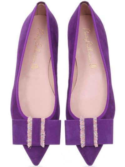 Pretty in Purple|סגול|נעלי בובה|נעלי בלרינה|נעליים שטוחות|נעליים נוחות|ballerinas