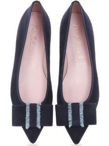 Purple Heart|כחול|נעלי בובה|נעלי בלרינה|נעליים שטוחות|נעליים נוחות|ballerinas