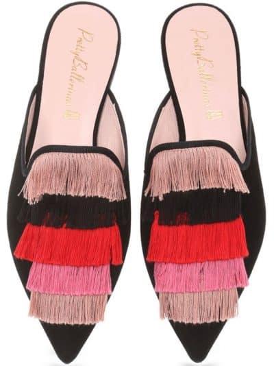 Flamenco Mule|שחור|כפכפים|מיולז|כפכפי מיולז|Mules