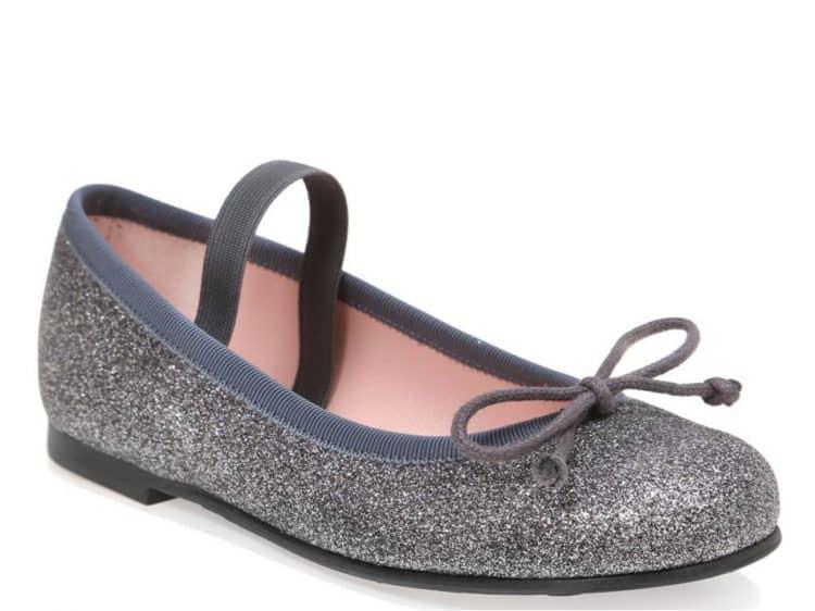 Black Candy אפור ילדות  בלרינה נעלי בלרינה לילדות נעלי בלרינה