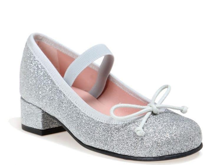 Perfect Queen|כסף|ילדות| בלרינה|נעלי בלרינה לילדות|נעלי בלרינה