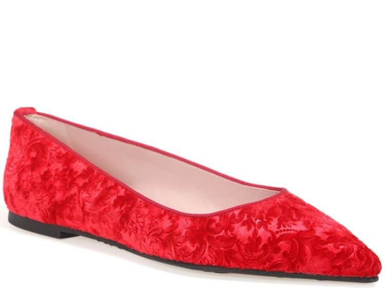 Bordo Brocade Ballerina|אדום|נעלי בובה|נעלי בלרינה|נעליים שטוחות|נעליים נוחות|ballerinas