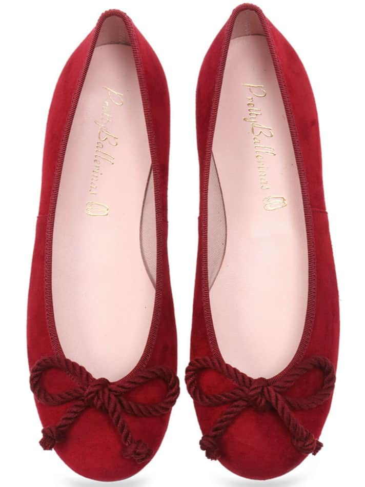 Rosario Bordo|אדום|נעלי בובה|נעלי בלרינה|נעליים שטוחות|נעליים נוחות|ballerinas