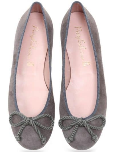Grey and Purple Rosario אפור נעלי בובה נעלי בלרינה נעליים שטוחות נעליים נוחות ballerinas