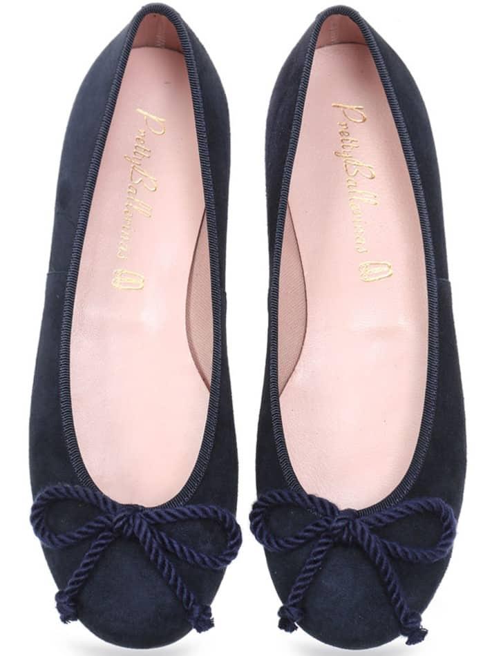 Blue Suade Rosario|כחול|נעלי בובה|נעלי בלרינה|נעליים שטוחות|נעליים נוחות|ballerinas