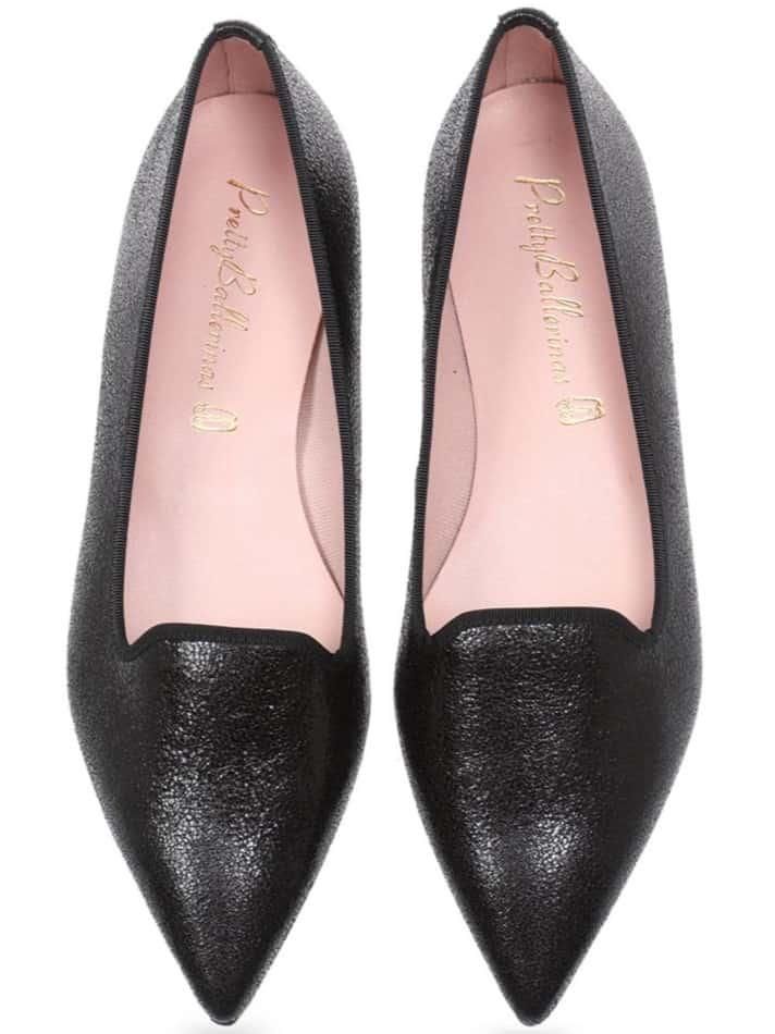 Live Your Dream שחור נעלי בובה נעלי בלרינה נעליים שטוחות נעליים נוחות ballerinas