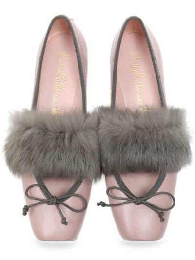 Pink Point ורוד אפור ירוק נעלי בובה נעלי בלרינה נעליים שטוחות נעליים נוחות ballerinas