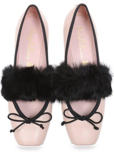Play Point|זהב|שחור|נעלי בובה|נעלי בלרינה|נעליים שטוחות|נעליים נוחות|ballerinas