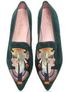 Green Pharoe|ירוק|נעלי בובה|נעלי בלרינה|נעליים שטוחות|נעליים נוחות|ballerinas