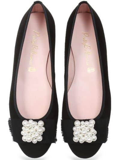 Pearl Ballerina|שחור|עקב|נעלי עקב|Heels