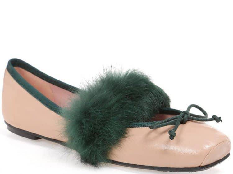 Forest Point|חום|ירוק|נעלי בובה|נעלי בלרינה|נעליים שטוחות|נעליים נוחות|ballerinas