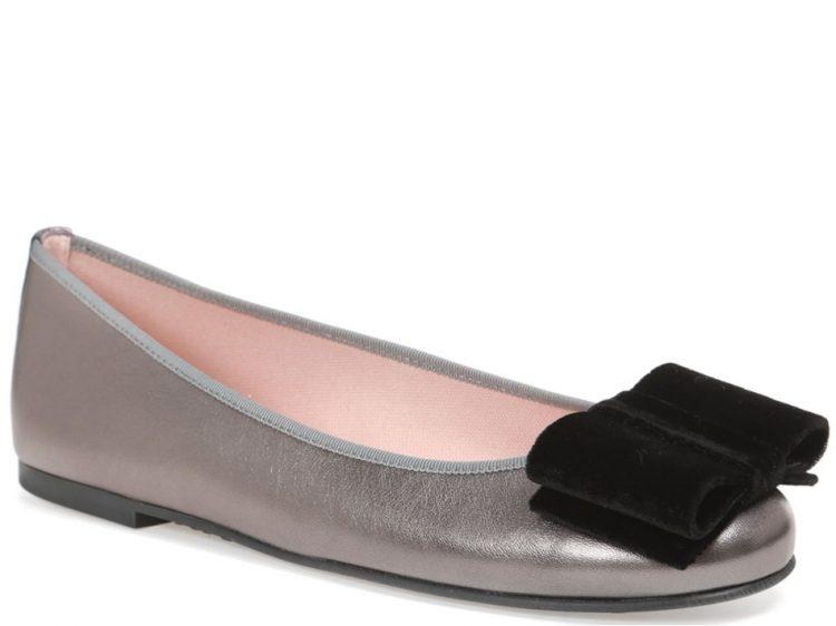 Grey and Silver|כסף|שחור|נעלי בובה|נעלי בלרינה|נעליים שטוחות|נעליים נוחות|ballerinas