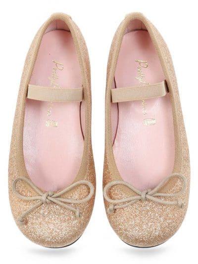 Golden Candy אפור ילדות  בלרינה נעלי בלרינה לילדות נעלי בלרינה