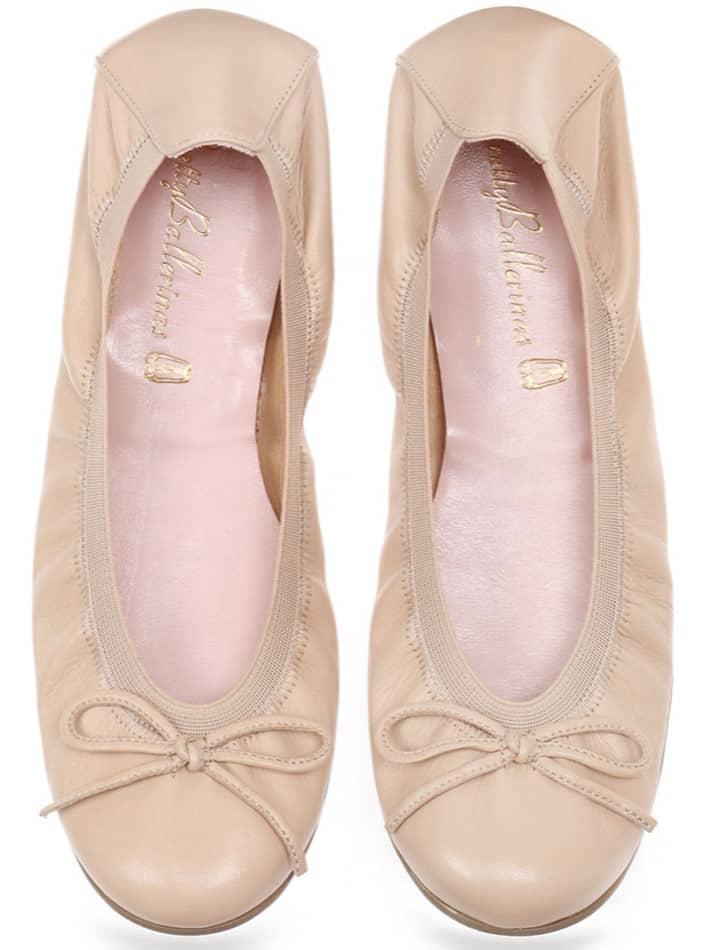 Red Fold|חום|ניוד|נעלי בובה|נעלי בלרינה|נעליים שטוחות|נעליים נוחות|ballerinas