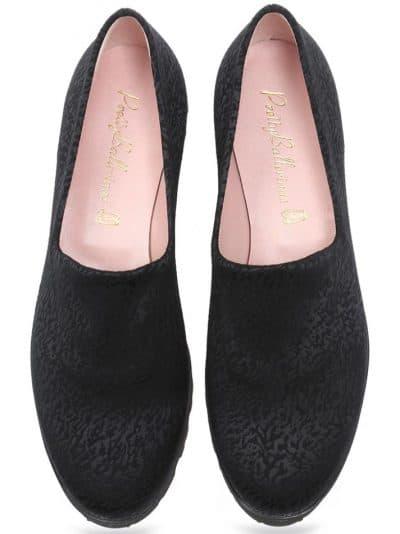 Stretch Black|שחור|נעלי בובה|נעלי בלרינה|נעליים שטוחות|נעלי פלטפורמה|ballerinas
