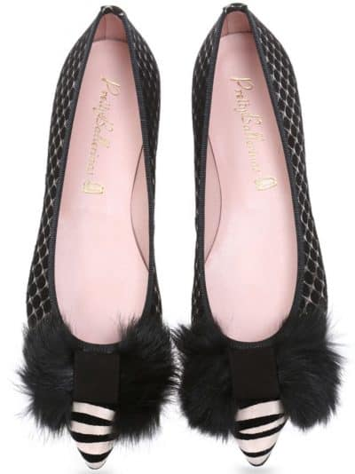 Madagascar|שחור|לבן|כסף|נעלי בובה|נעלי בלרינה|נעליים שטוחות|נעליים נוחות|ballerinas