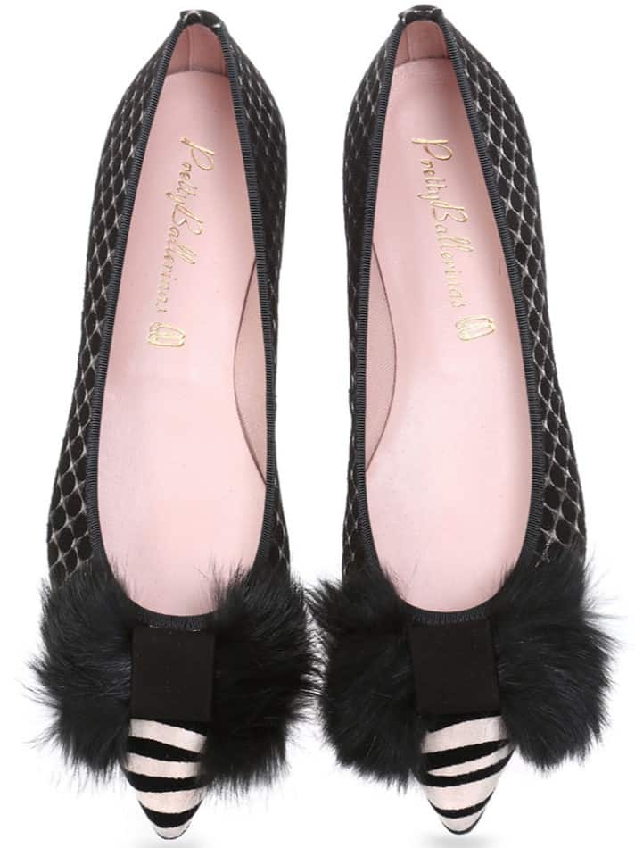 Madagascar שחור לבן כסף נעלי בובה נעלי בלרינה נעליים שטוחות נעליים נוחות ballerinas