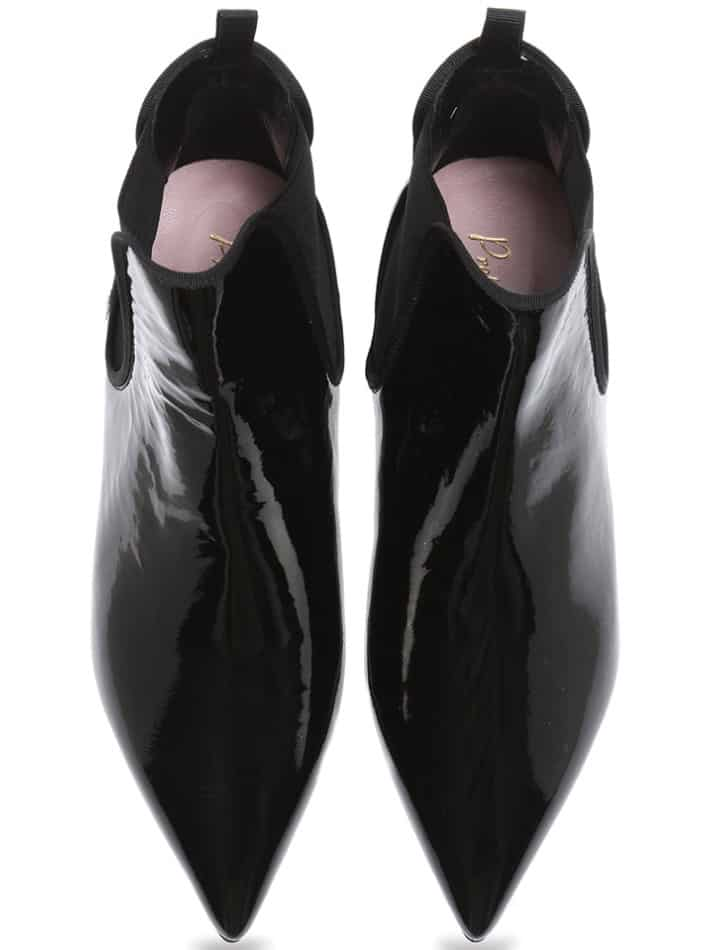 Classic Point Boots שחור מגפונים מגפוני נשים מגפוני עקב