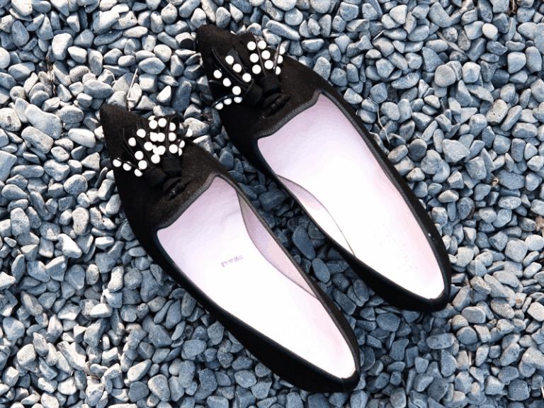 נעליים מעוטרות   Pretty ballerinas   Luxury Fringing