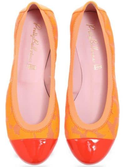 Frottane|כתום|נעלי בובה|נעלי בלרינה|נעליים שטוחות|נעליים נוחות|ballerinas