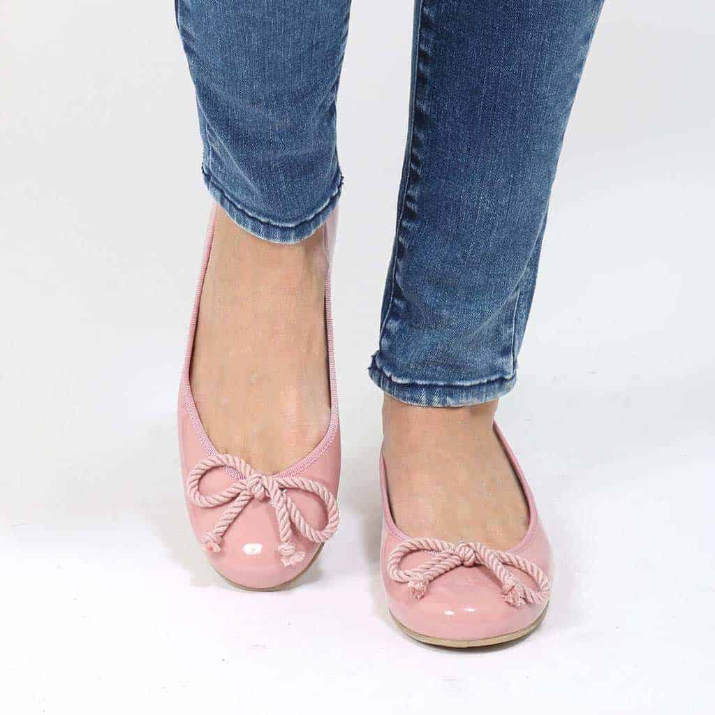 Lady Rosario|ורוד|נעלי בובה|נעלי בלרינה|נעליים שטוחות|נעליים נוחות|ballerinas