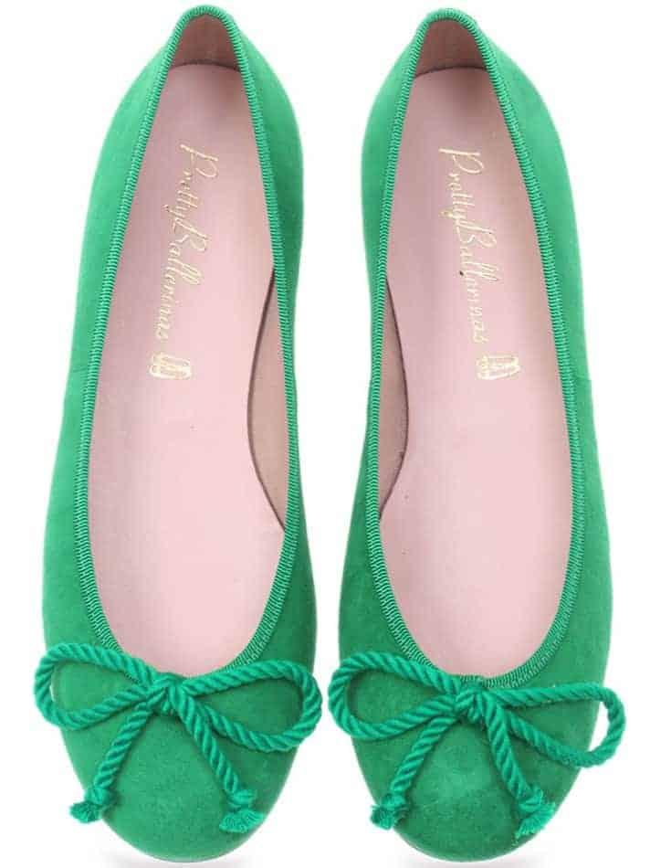 Grass Rosario|ירוק|נעלי בובה|נעלי בלרינה|נעליים שטוחות|נעליים נוחות|ballerinas