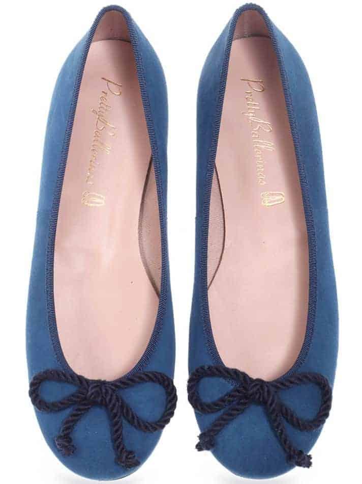 Ocean|כחול|נעלי בובה|נעלי בלרינה|נעליים שטוחות|נעליים נוחות|ballerinas