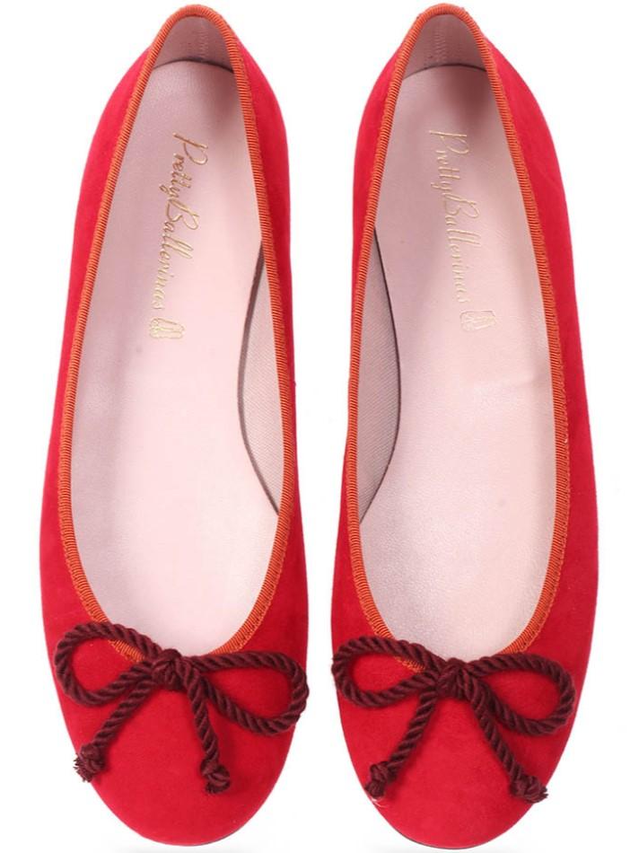 Audrey|אדום|נעלי בובה|נעלי בלרינה|נעליים שטוחות|נעליים נוחות|ballerinas