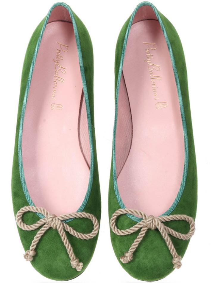 Claire|ירוק|נעלי בובה|נעלי בלרינה|נעליים שטוחות|נעליים נוחות|ballerinas