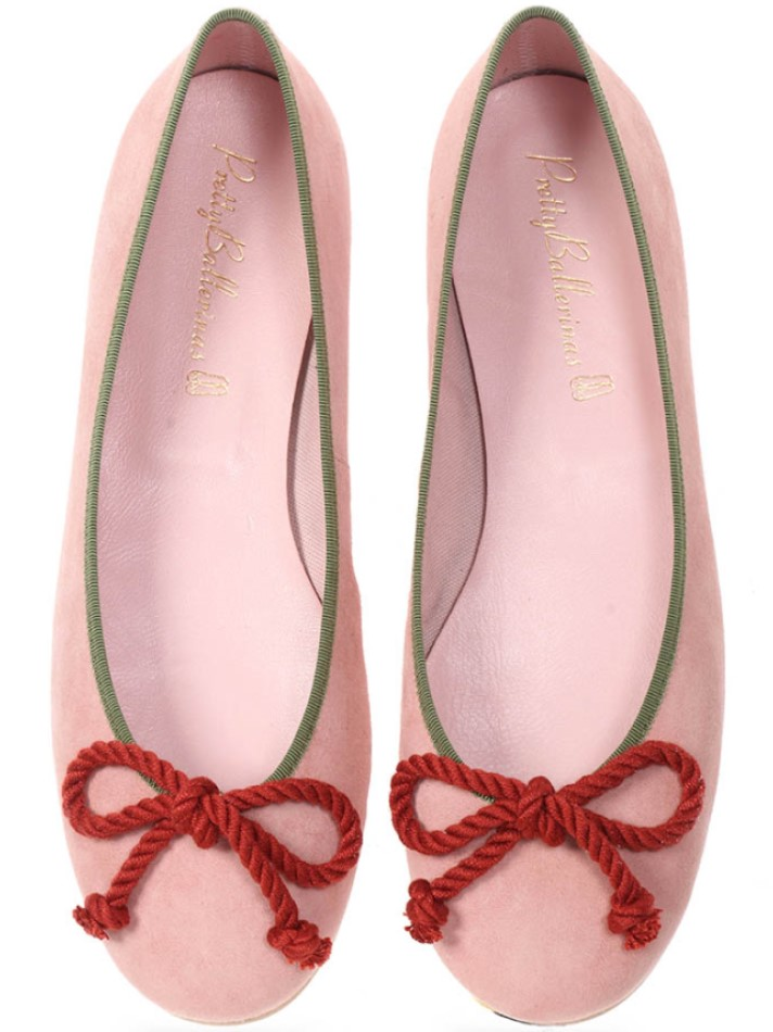 Skylar|ורוד|נעלי בובה|נעלי בלרינה|נעליים שטוחות|נעליים נוחות|ballerinas