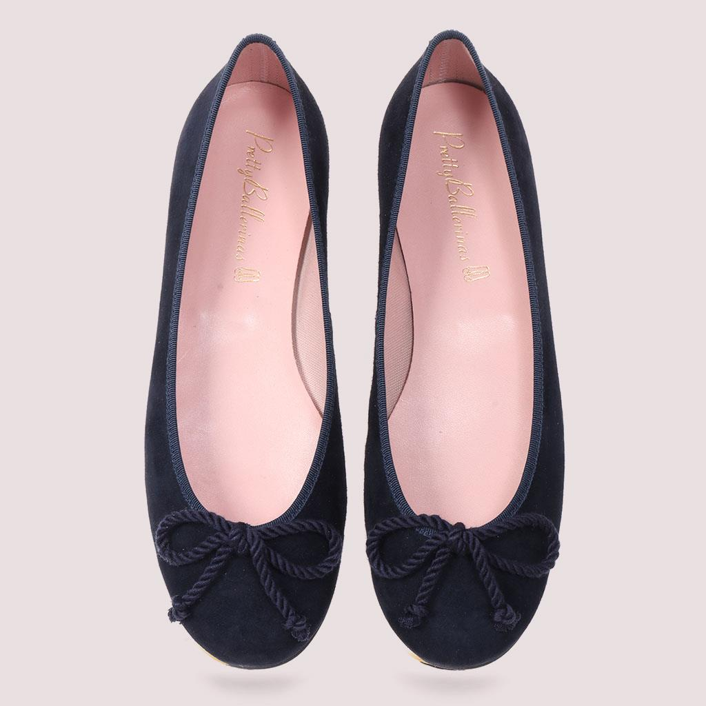 Emilia|כחול|נעלי בובה|נעלי בלרינה|נעליים שטוחות|נעליים נוחות|ballerinas