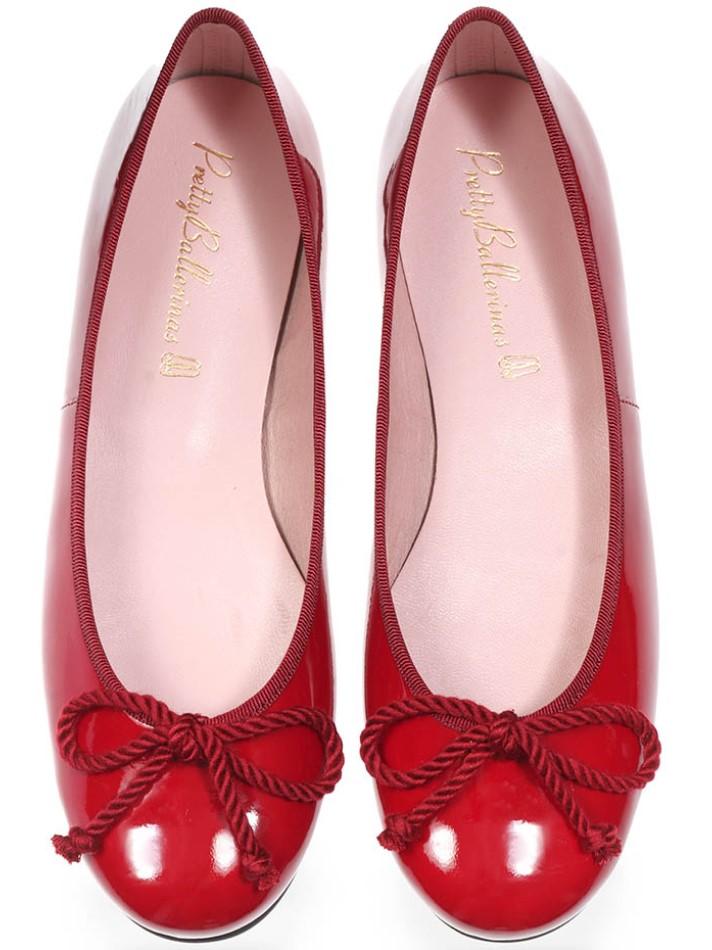 Ariana|בורדו|נעלי בובה|נעלי בלרינה|נעליים שטוחות|נעליים נוחות|ballerinas