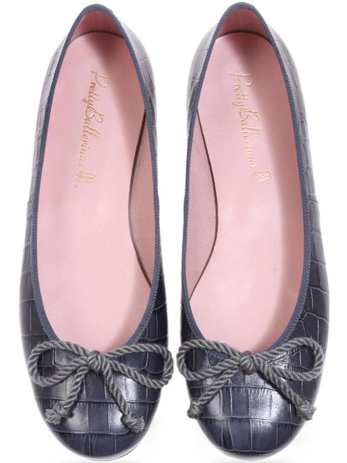 Gianna|אפור|נעלי בובה|נעלי בלרינה|נעליים שטוחות|נעליים נוחות|ballerinas