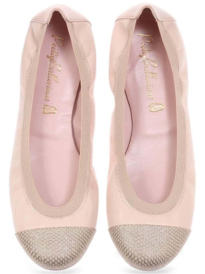 Pink Snake Shirly|ניוד|זהב|נעלי בובה|נעלי בלרינה|נעליים שטוחות|נעליים נוחות|ballerinas