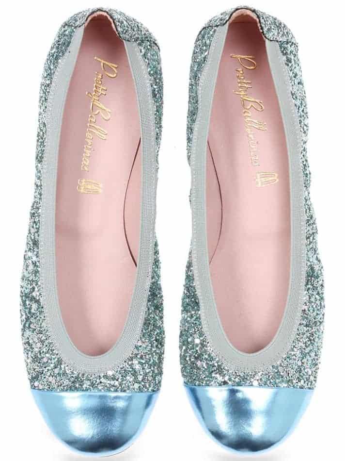 Seaside Shirly|תכלת|כסף|כחול|ירוק|נעלי בובה|נעלי בלרינה|נעליים שטוחות|נעליים נוחות|ballerinas