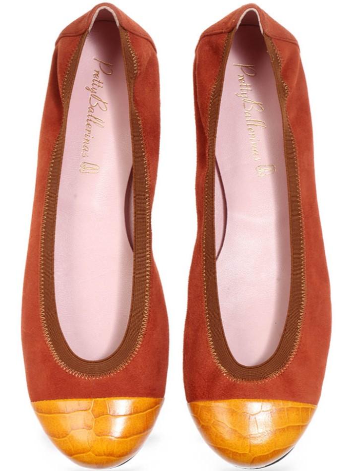 Sophie|צהוב|חום|נעלי בובה|נעלי בלרינה|נעליים שטוחות|נעליים נוחות|ballerinas