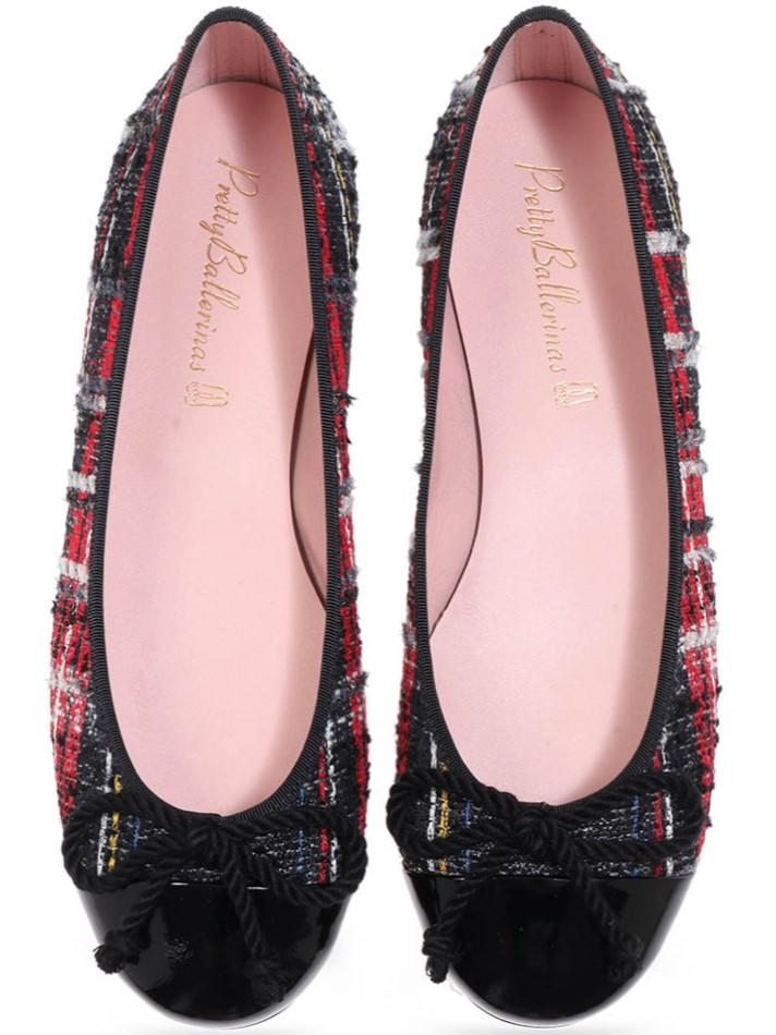 Reagan|שחור|לבן|אדום|נעלי בובה|נעלי בלרינה|נעליים שטוחות|נעליים נוחות|ballerinas