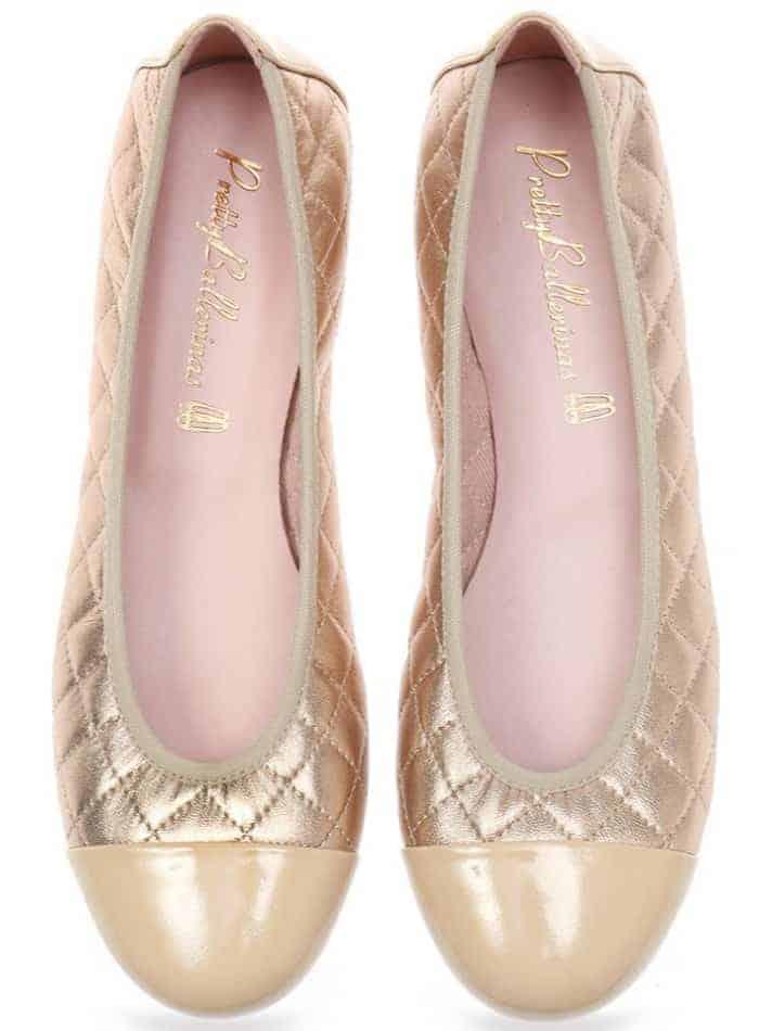Gold Quilt|ניוד|זהב|נעלי בובה|נעלי בלרינה|נעליים שטוחות|נעליים נוחות|ballerinas