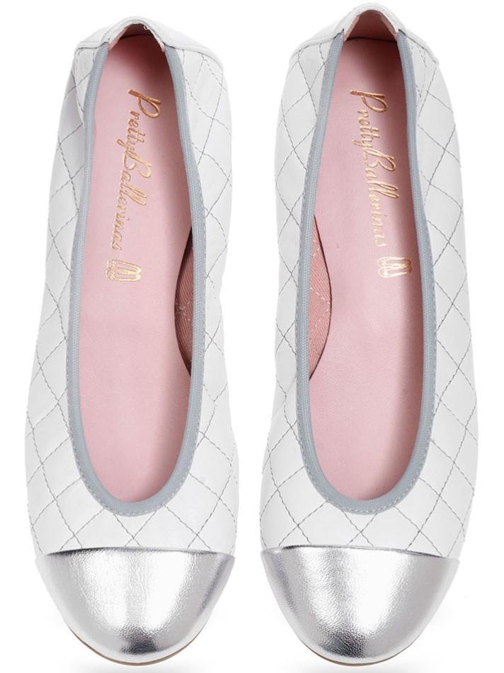 Otefrince|כסף|לבן|נעלי בובה|נעלי בלרינה|נעליים שטוחות|נעליים נוחות|ballerinas