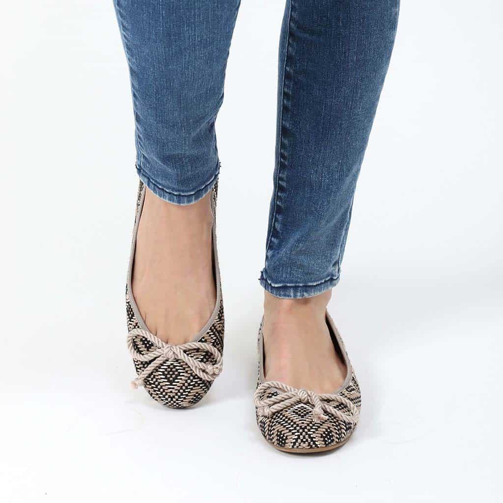 Tripoli|שחור|כאמל|זהב|נעלי בובה|נעלי בלרינה|נעליים שטוחות|נעליים נוחות|ballerinas