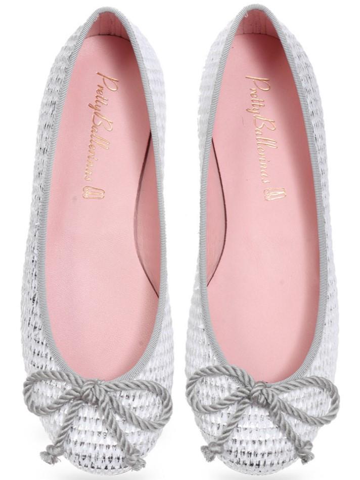 Amararo|לבן|כסף|נעלי בובה|נעלי בלרינה|נעליים שטוחות|נעליים נוחות|ballerinas